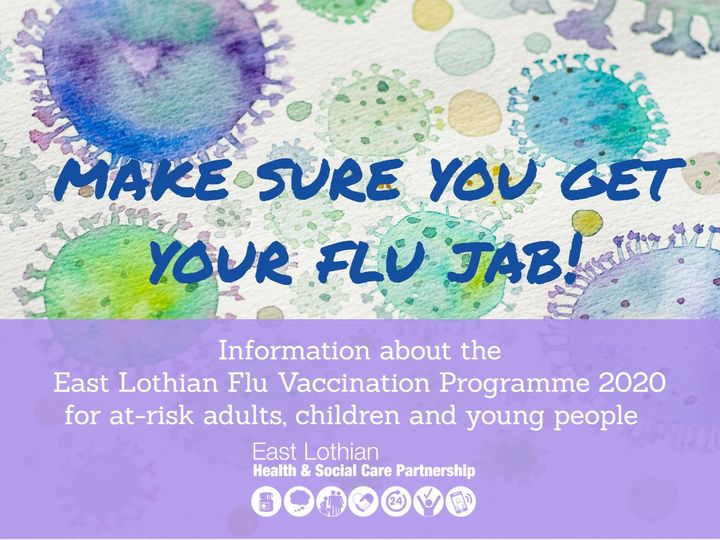 Information about the East Lothian Flu Vaccination Programme 2020 for at-risk adults, children and young people